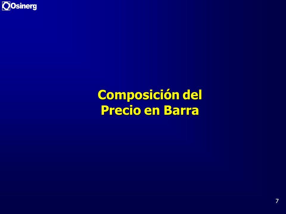 7 Composición del Precio en Barra