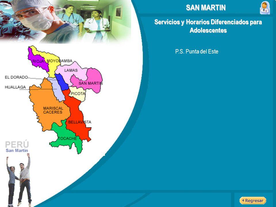 Servicios y Horarios Diferenciados para Adolescentes SAN MARTIN P.S. Punta del Este