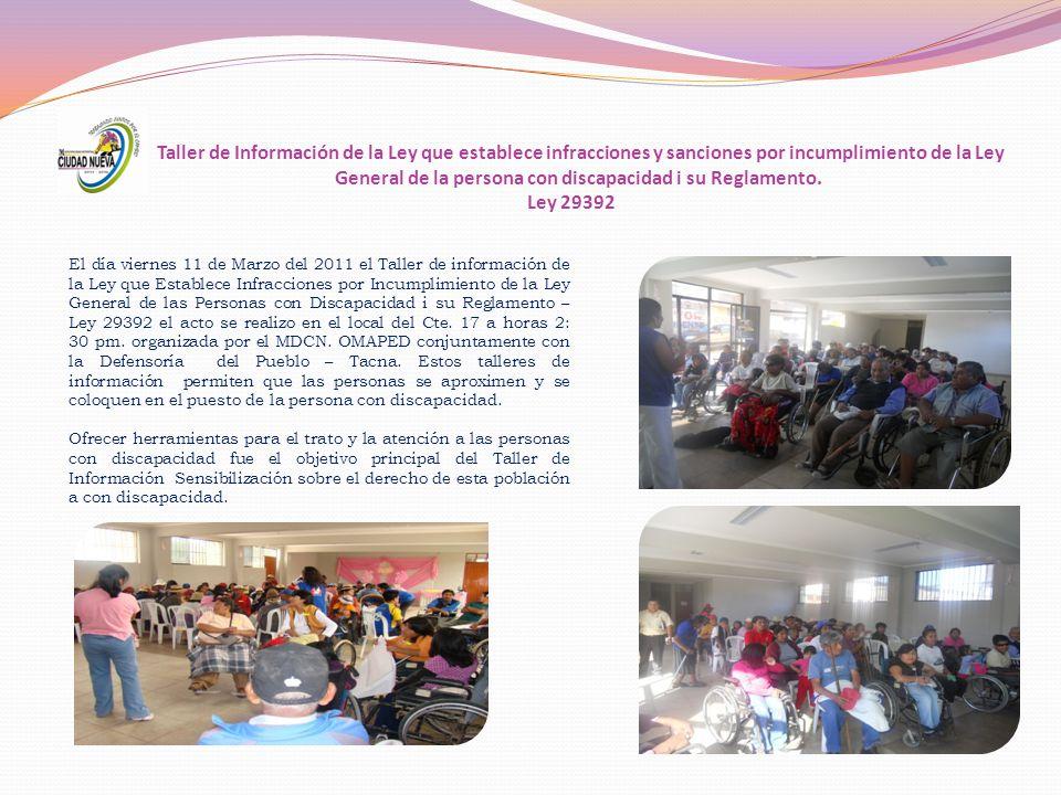 II TALLER DE FORTALECIMIENTO A LOS GOBIERNOS LOCALES Y REGIONAL Y BASES SOCIALES DE PCD.