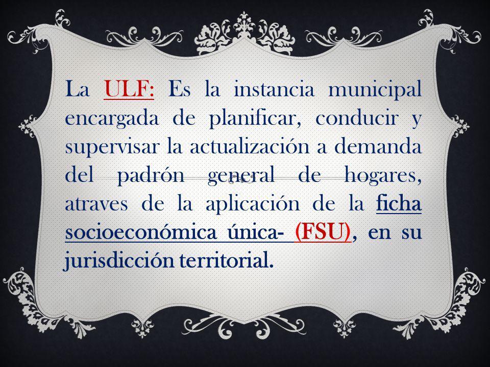 Funciones de la ULF: 1.PLANIFICACIÓN.