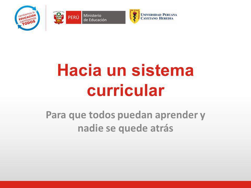 Hacia un sistema curricular: por qué, para qué y cómo 1.El punto de partida: situación curricular actual.