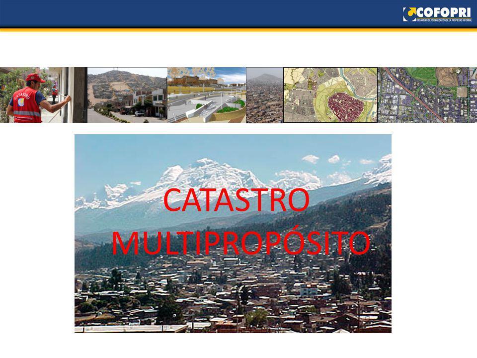 Dirección de Catastro Se tiene como objetivo principal brindar apoyo técnico a los municipios provinciales y distritales que por diferentes motivos no han podido realizar un proyecto de levantamiento catastral en su jurisdicción.
