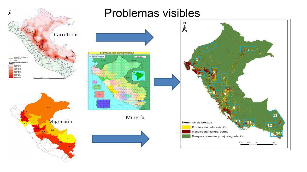 Carreteras Migración Minería Problemas visibles