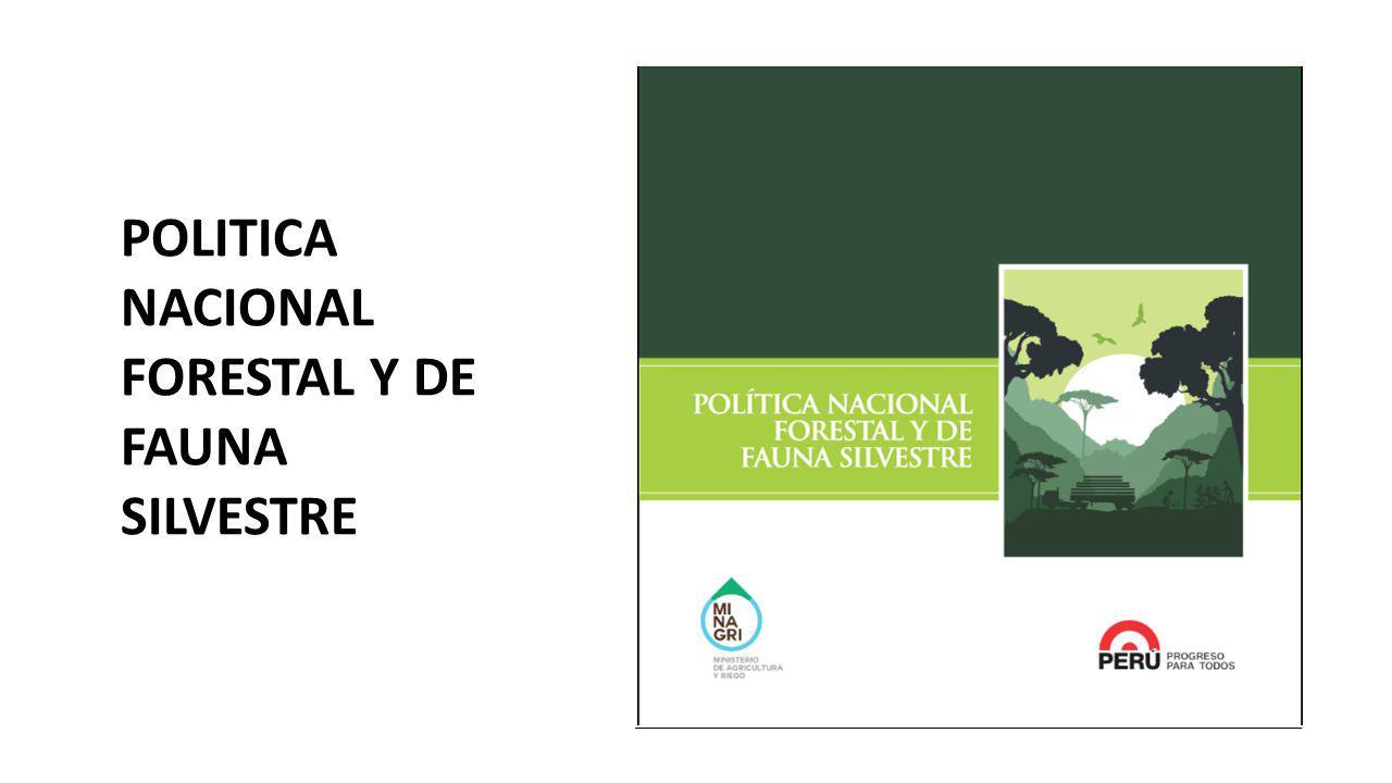 POLITICA NACIONAL FORESTAL Y DE FAUNA SILVESTRE