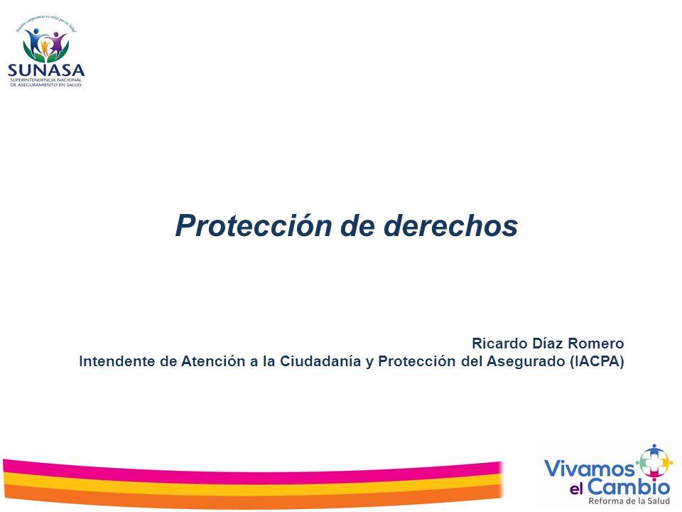 Ricardo Díaz Romero Intendente de Atención a la Ciudadanía y Protección del Asegurado (IACPA) Protección de derechos