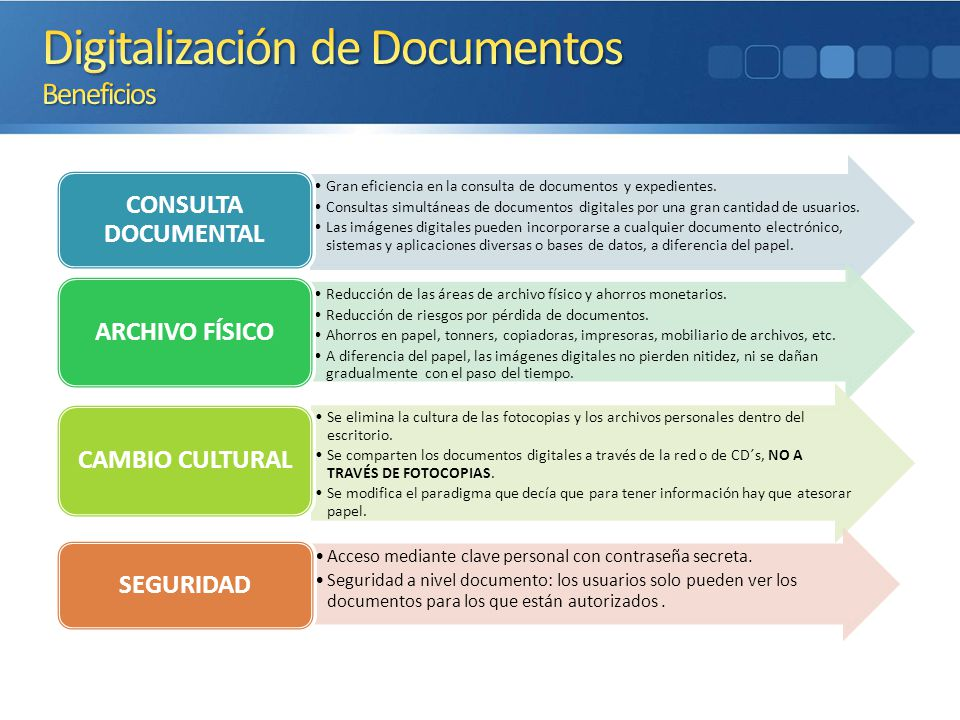 Gran eficiencia en la consulta de documentos y expedientes.