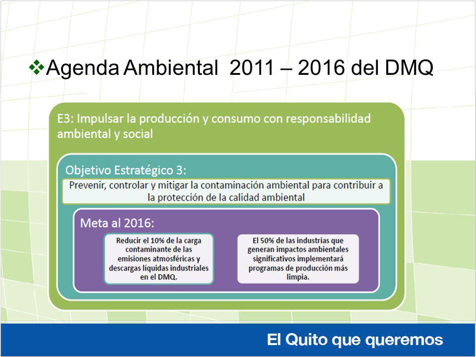 Agenda Ambiental 2011 – 2016 del DMQ