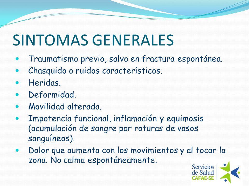 PRIMEROS AUXILIOS EN FRACTURAS FRACTURA CERRADA: Inmovilizar. Traslado a centro asistencial.