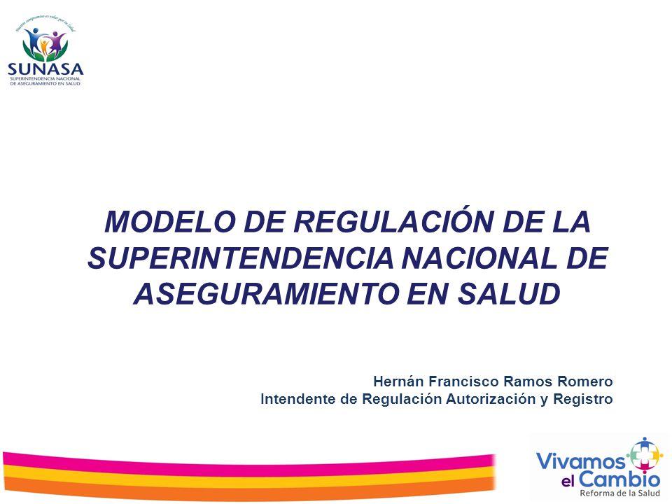 Hernán Francisco Ramos Romero Intendente de Regulación Autorización y Registro MODELO DE REGULACIÓN DE LA SUPERINTENDENCIA NACIONAL DE ASEGURAMIENTO E