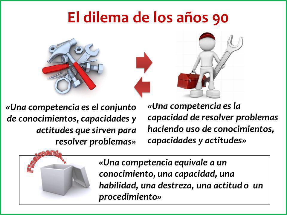 «Una competencia es el conjunto de conocimientos, capacidades y actitudes que sirven para resolver problemas» «Una competencia es la capacidad de reso