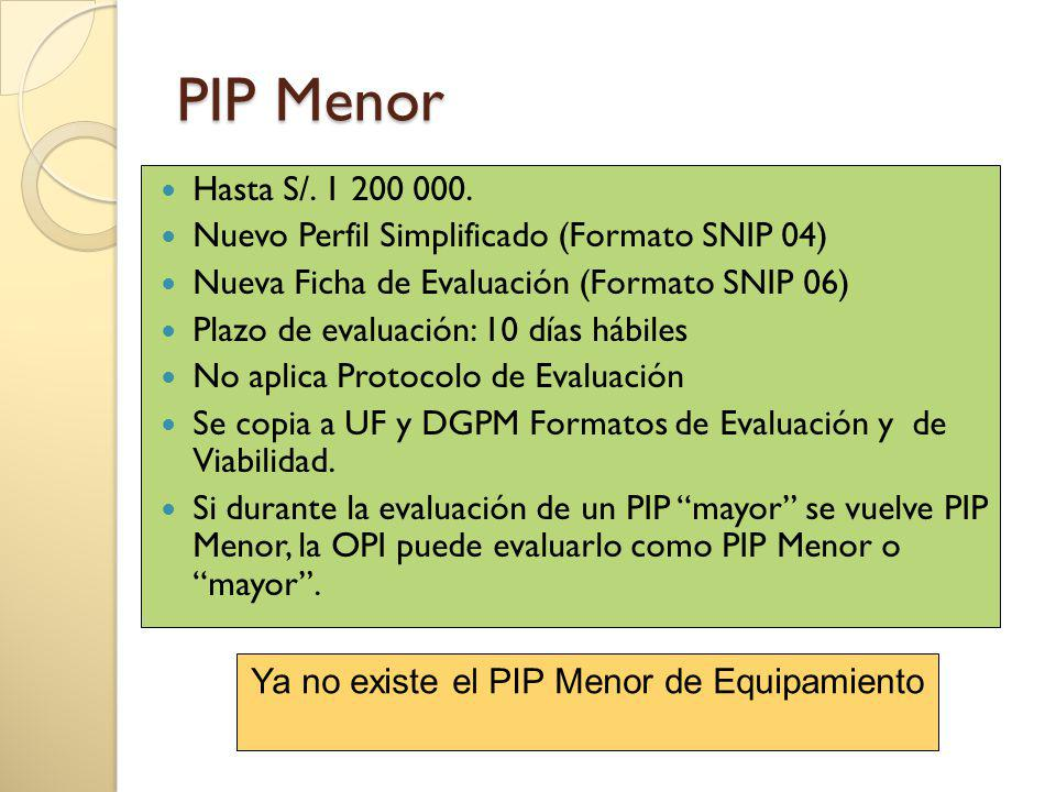 PIP Menor Hasta S/.1 200 000.