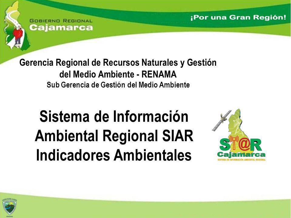Gerencia Regional de Recursos Naturales y Gestión del Medio Ambiente - RENAMA Sub Gerencia de Gestión del Medio Ambiente Sistema de Información Ambien