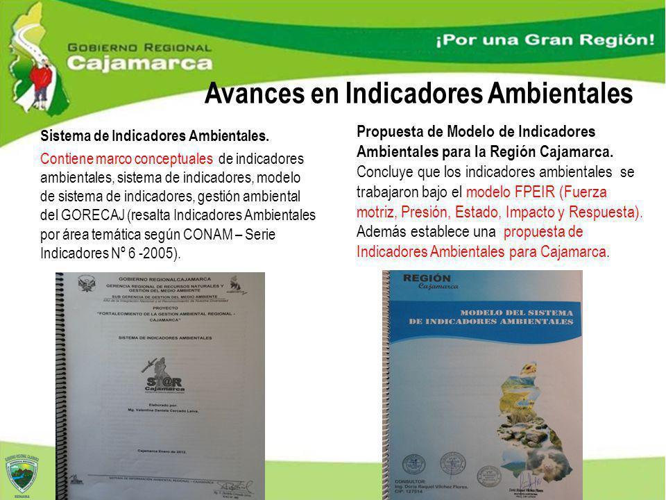 Sistema de Indicadores Ambientales. Contiene marco conceptuales de indicadores ambientales, sistema de indicadores, modelo de sistema de indicadores,