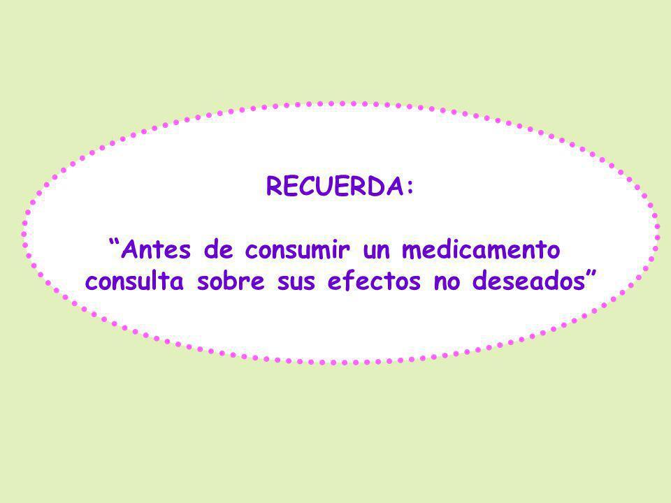 OMS: Denominación Común Internacional (DCI) para cada medicamento.
