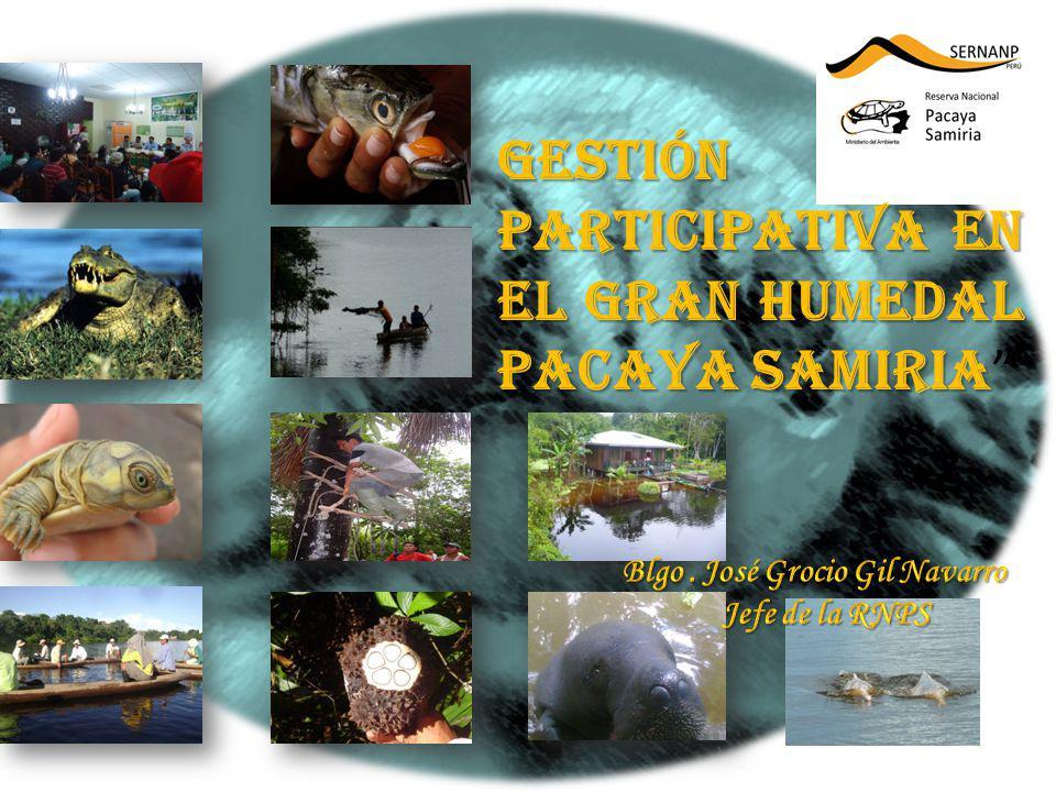 Gestión Participativa en el gran Humedal Pacaya Samiria Gestión Participativa en el gran Humedal Pacaya Samiria