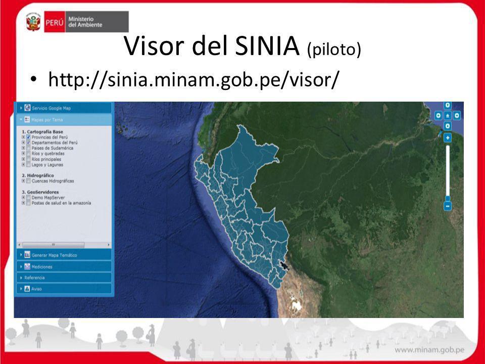 Visor del SINIA (piloto) http://sinia.minam.gob.pe/visor/
