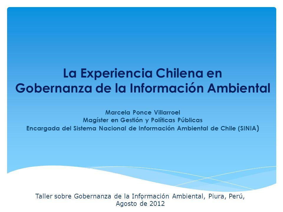 32 La Experiencia Chilena en Gobernanza de la Información Ambiental Características 1.Lenguaje accesible para público no experto, con explicaciones de algunos conceptos.