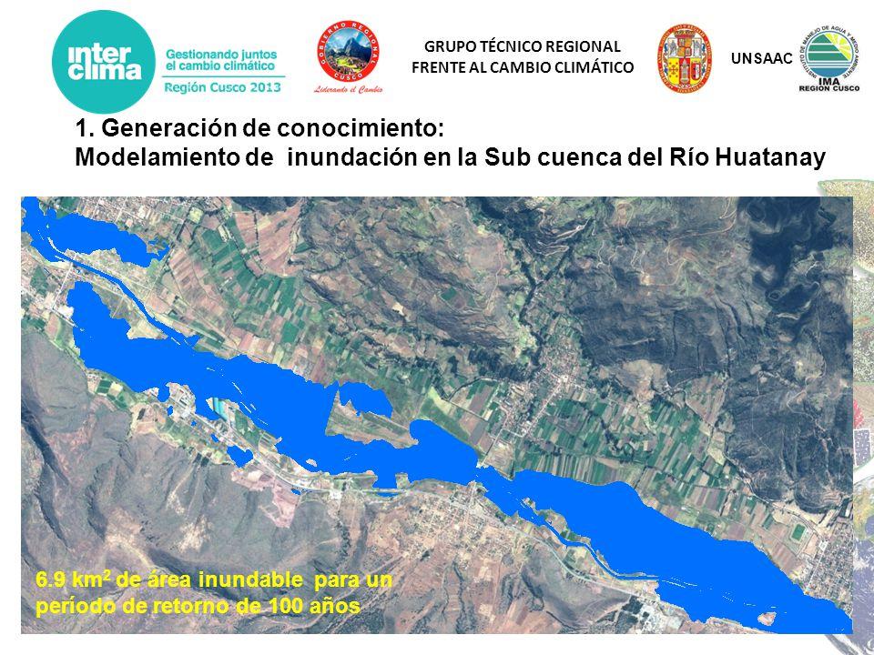 GRUPO TÉCNICO REGIONAL FRENTE AL CAMBIO CLIMÁTICO 1. Generación de conocimiento: Modelamiento de inundación en la Sub cuenca del Río Huatanay UNSAAC 6