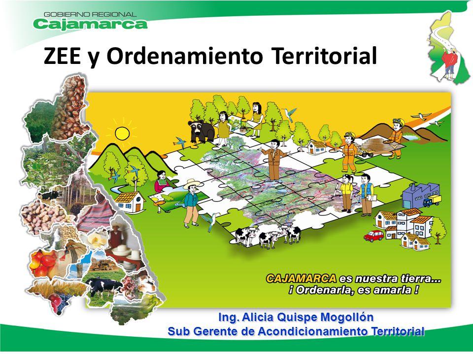 ZEE y Ordenamiento Territorial Ing. Alicia Quispe Mogollón Sub Gerente de Acondicionamiento Territorial