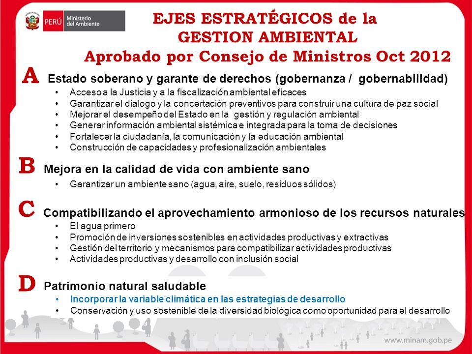 Estado soberano y garante de derechos (gobernanza / gobernabilidad) A Acceso a la Justicia y a la fiscalización ambiental eficaces Garantizar el dialo