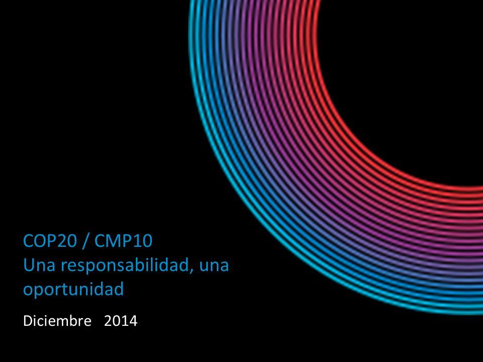COP20 / CMP10 Una responsabilidad, una oportunidad Diciembre 2014