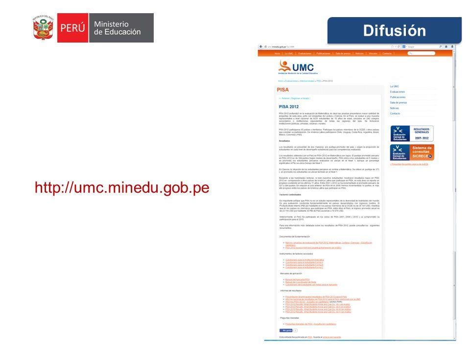 Difusión http://umc.minedu.gob.pe