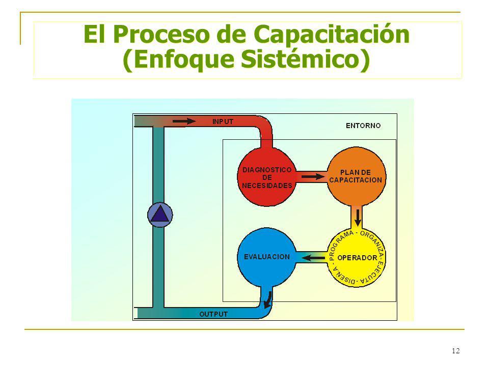 12 El Proceso de Capacitación (Enfoque Sistémico) El Proceso de Capacitación (Enfoque Sistémico)