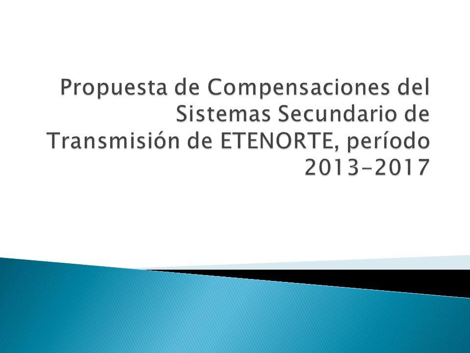 L-2240, Carhuaquero – Chiclayo Oeste Beneficiarios Demanda : 94,0% Generación : 6,0% L-1103/1104/1105, Huallanca – Chimbote 1 Beneficiarios Demanda : 31,9% Generación : 68,1% Autotransformador 220/138 kV – 120 MVA Beneficiarios Demanda : 31,1% Generación : 68,9%