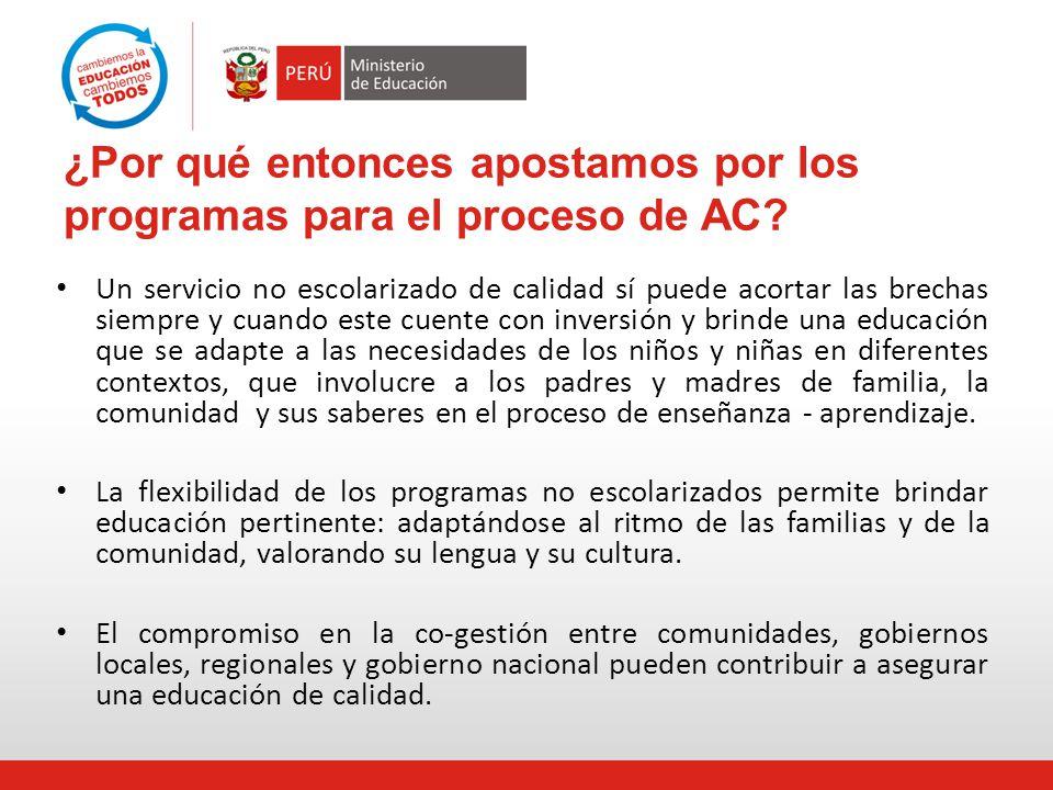 Funcionamiento del Programa Prof.Coord. Itinerante Promotoras Especialista DRE-UGEL Prof.