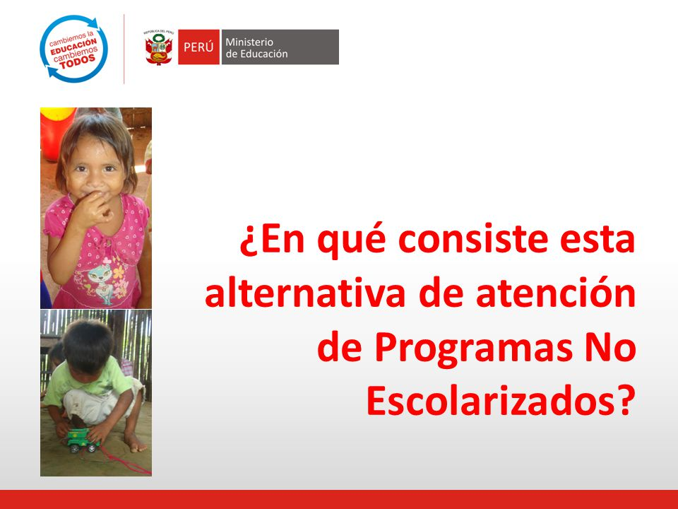 ¿En qué consiste esta alternativa de atención de Programas No Escolarizados?