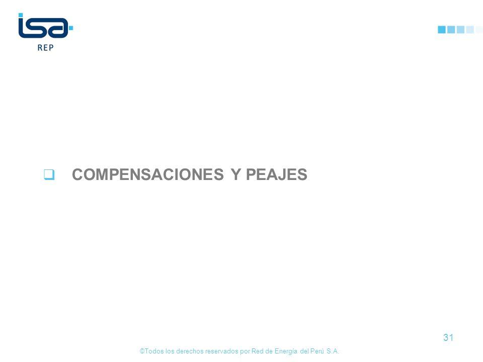 ©Todos los derechos reservados por Red de Energía del Perú S.A. 31 COMPENSACIONES Y PEAJES
