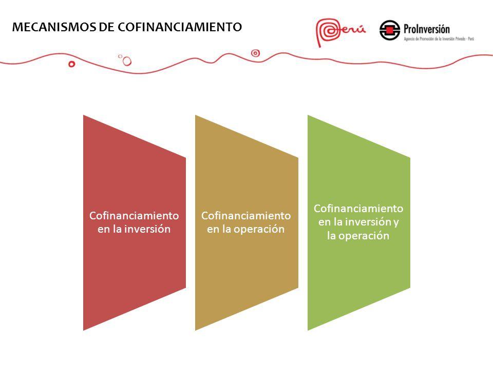Cofinanciamiento en la inversión Cofinanciamiento en la operación Cofinanciamiento en la inversión y la operación EL PROYECTO MECANISMOS DE COFINANCIA