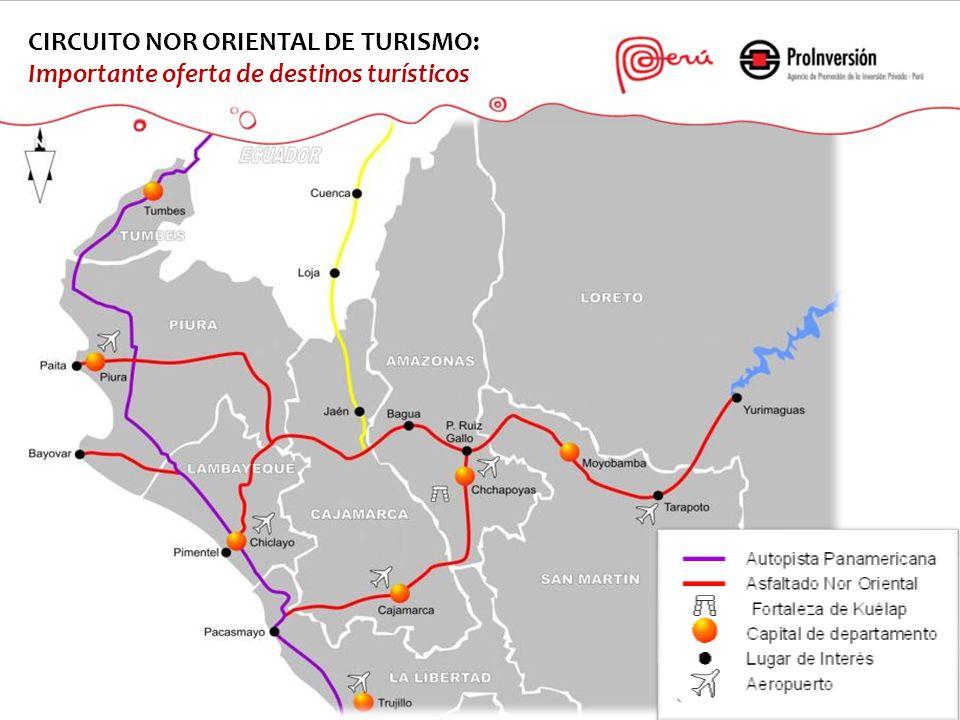 CIRCUITO NOR ORIENTAL DE TURISMO: Importante oferta de destinos turísticos