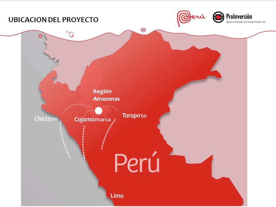 Región Amazonas yo marca to UBICACION DEL PROYECTO