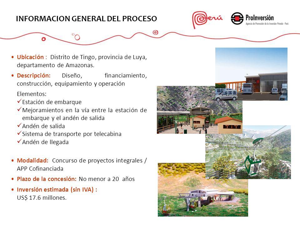 Ubicación : Distrito de Tingo, provincia de Luya, departamento de Amazonas. Descripción: Diseño, financiamiento, construcción, equipamiento y operació