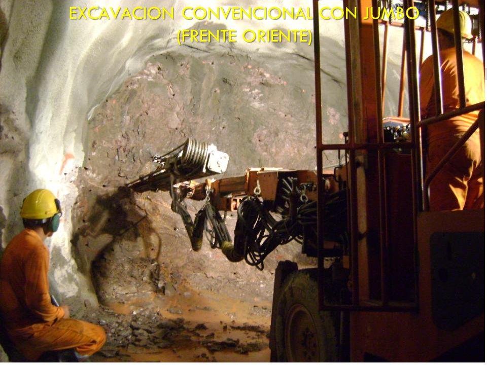 EXCAVACION CONVENCIONAL CON JUMBO (FRENTE ORIENTE)