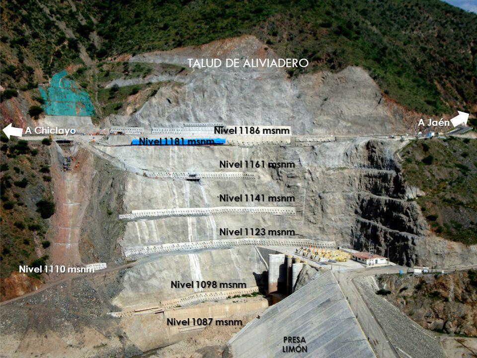 A Chiclayo A Jaén Nivel 1186 msnm Nivel 1161 msnm Nivel 1141 msnm Nivel 1123 msnm PRESALIMÓN Nivel 1087 msnm Nivel 1098 msnm Nivel 1110 msnm Nivel 118