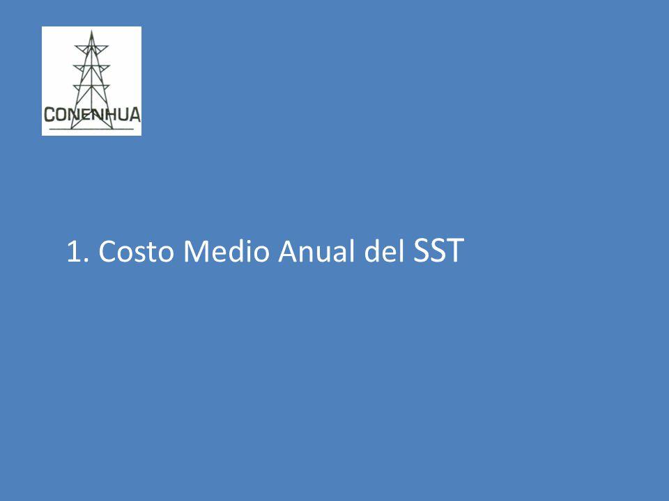 1. Costo Medio Anual del SST