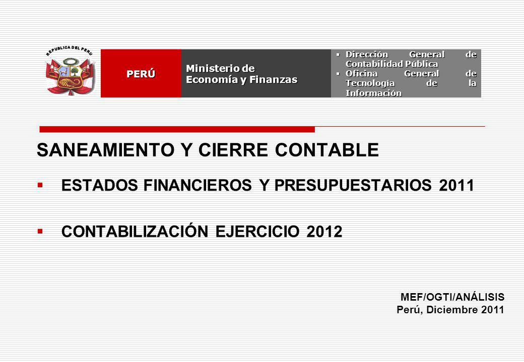 OCI, SOC.AUD., CGRSUNAT, CONGRESO, AFP OGIEMEFPERÚ 2012 SIAF - DEMOSTRACIÓN NOTA DE CONTABILIDAD: ASIENTO DE APERTURA 2012