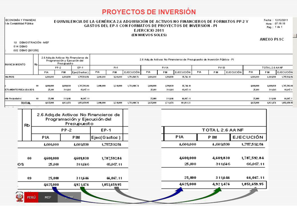 OGIEMEFPERÚ MÓDULO CONTABLE DEL SIAF-SP [ A Nivel Unidad Ejecutora ] BALANCE INICIAL BALANCE FINAL += Sin embargo, los registros presupuestarios no son suficientes para generar toda la información de finanzas públicas que propone el MEFP 2001.
