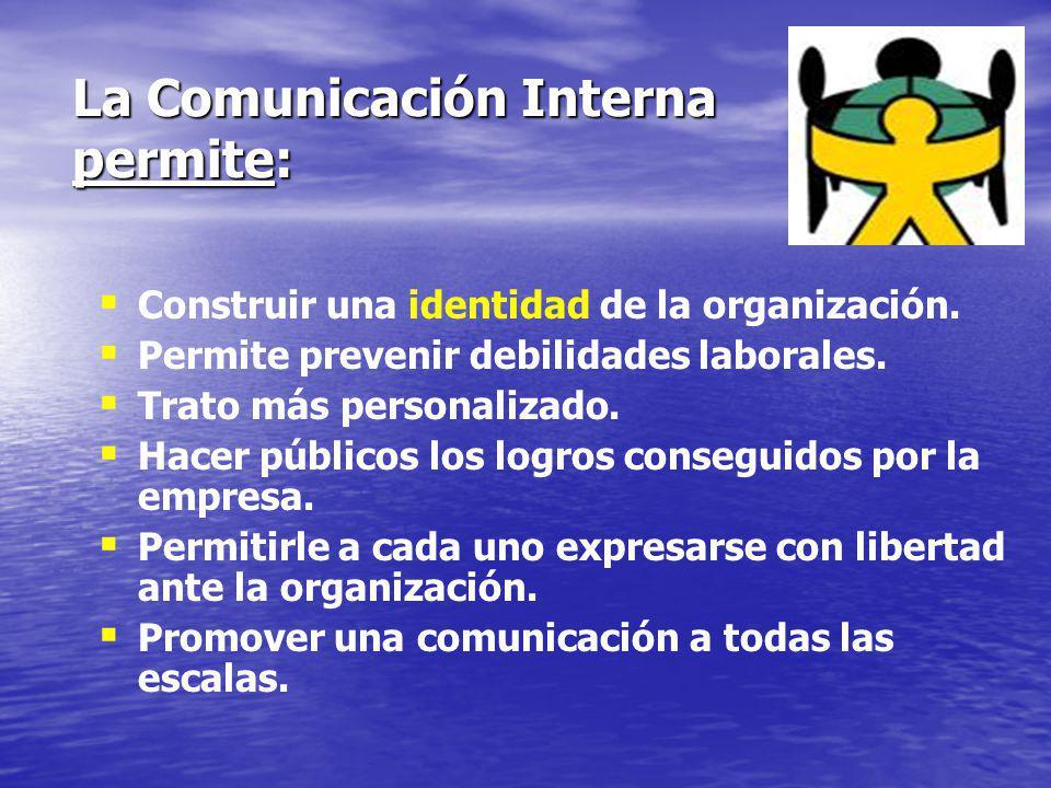 LA COMUNICACIÓN INTERNA Es la comunicación dirigida al cliente interno, es decir, al trabajador.