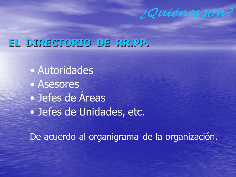 TRABAJADORES ALTA DIRECCION: Gerente General - Gerentes Directores – Funcionarios – Ejecutivos.