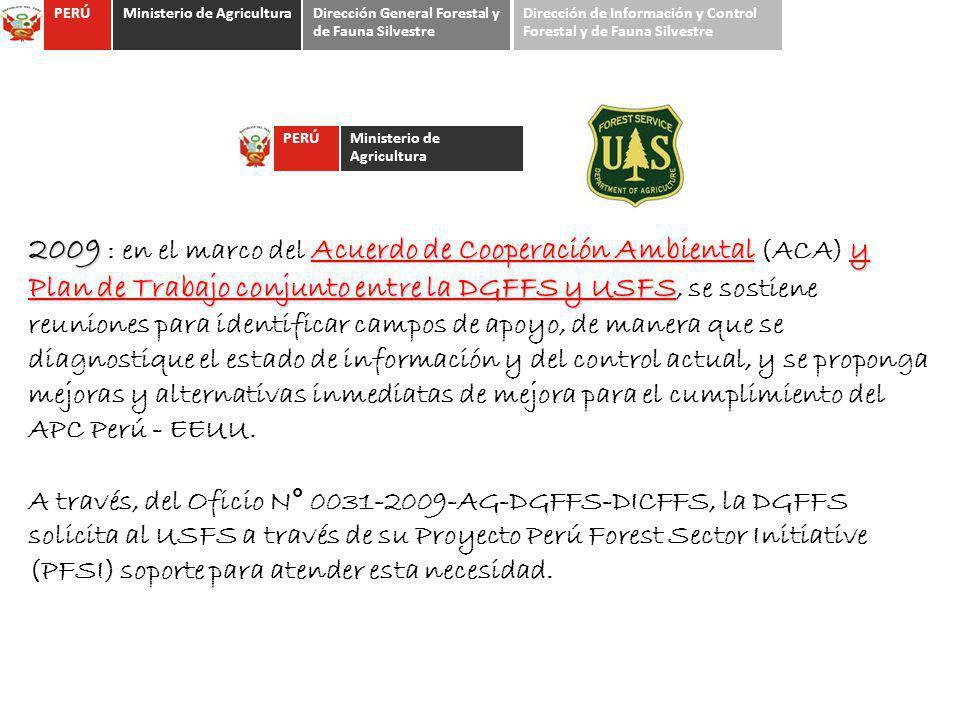 2009 Acuerdo de Cooperación Ambientaly Plan de Trabajo conjunto entre la DGFFS y USFS 2009 : en el marco del Acuerdo de Cooperación Ambiental (ACA) y