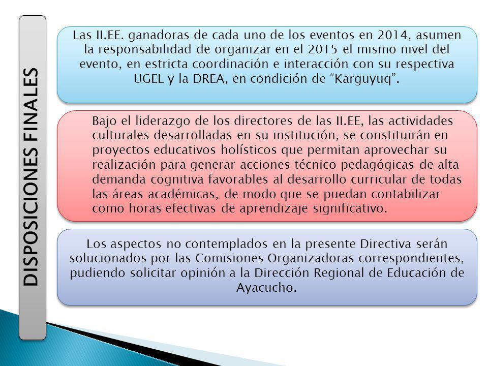 DISPOSICIONES FINALES Las II.EE.