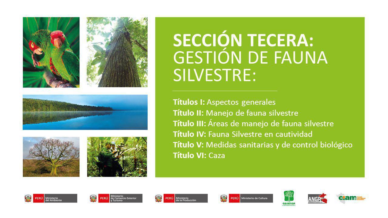 GESTION DE FAUNA DISPOSICIONES GENERALES (Art.