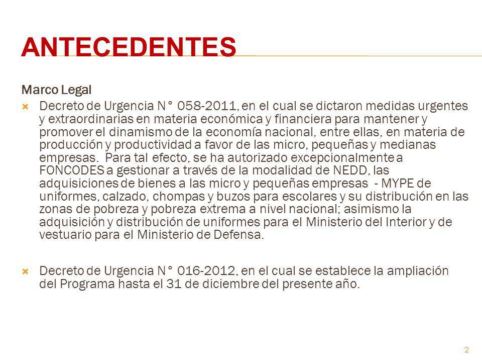 Marco Legal Decreto de Urgencia N° 058-2011, en el cual se dictaron medidas urgentes y extraordinarias en materia económica y financiera para mantener