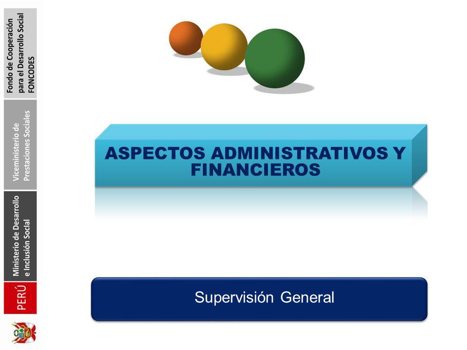 ASPECTOS ADMINISTRATIVOS Y FINANCIEROS Supervisión General