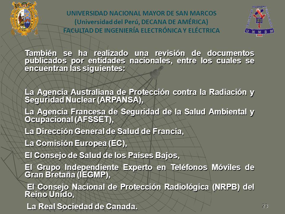23 También se ha realizado una revisión de documentos publicados por entidades nacionales, entre los cuales se encuentran las siguientes: La Agencia A