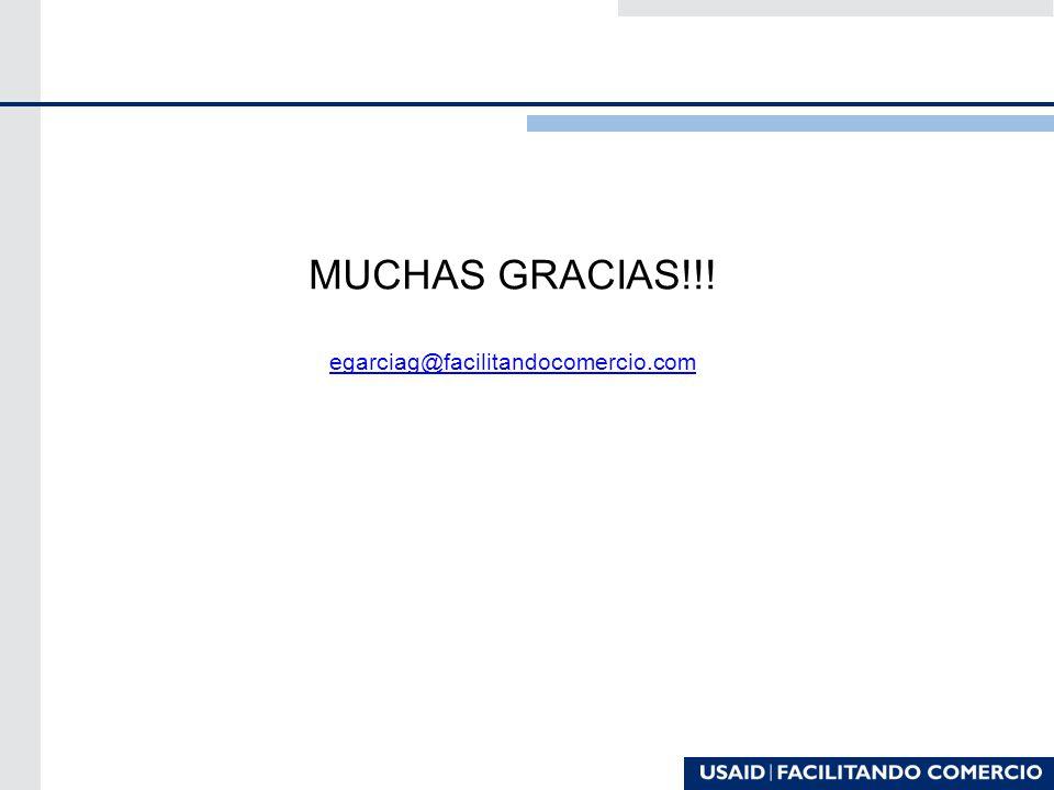 MUCHAS GRACIAS!!! egarciag@facilitandocomercio.com