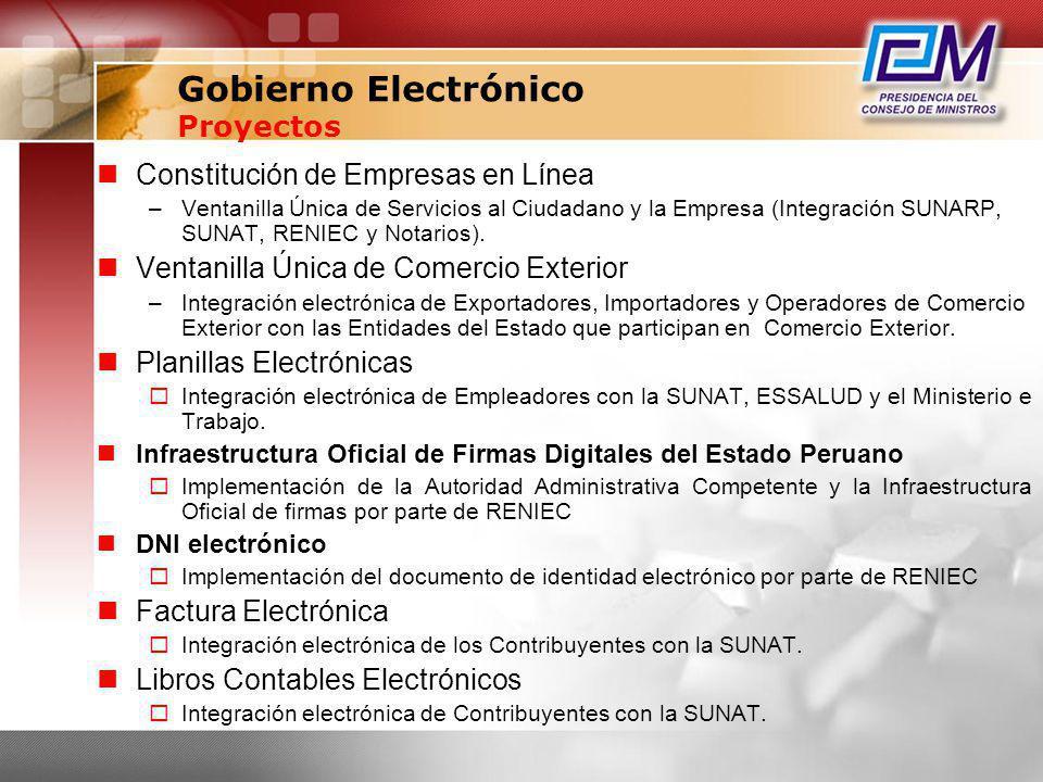 Constitución de Empresas en Línea –Ventanilla Única de Servicios al Ciudadano y la Empresa (Integración SUNARP, SUNAT, RENIEC y Notarios). Ventanilla